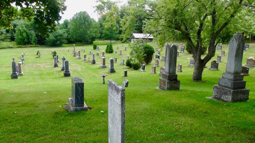 grave stones st john's church cemetary