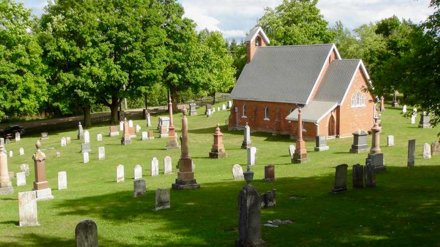 old st john's church and cemetary