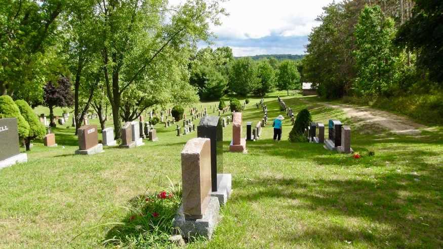 grave stones st john's cemetary