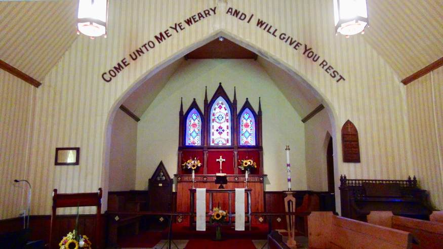 cemetery church interior